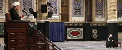 با حضور رهبر معظم انقلاب؛ مراسم عزاداری شهادت حضرت فاطمه(س) در حسینیه امام خمینی(ره) برگزار شد