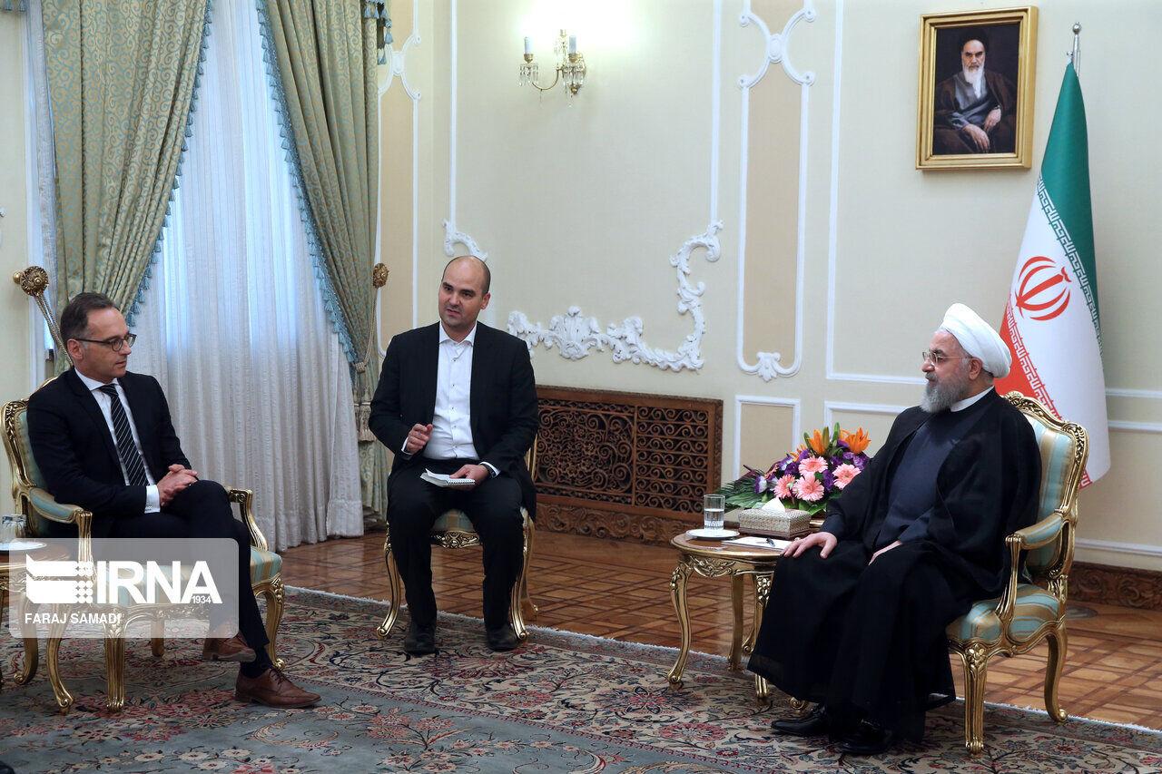 در دیدار وزیر امور خارجه آلمان: روحانی: اروپا باید به تعهدات خود در برجام عمل کند