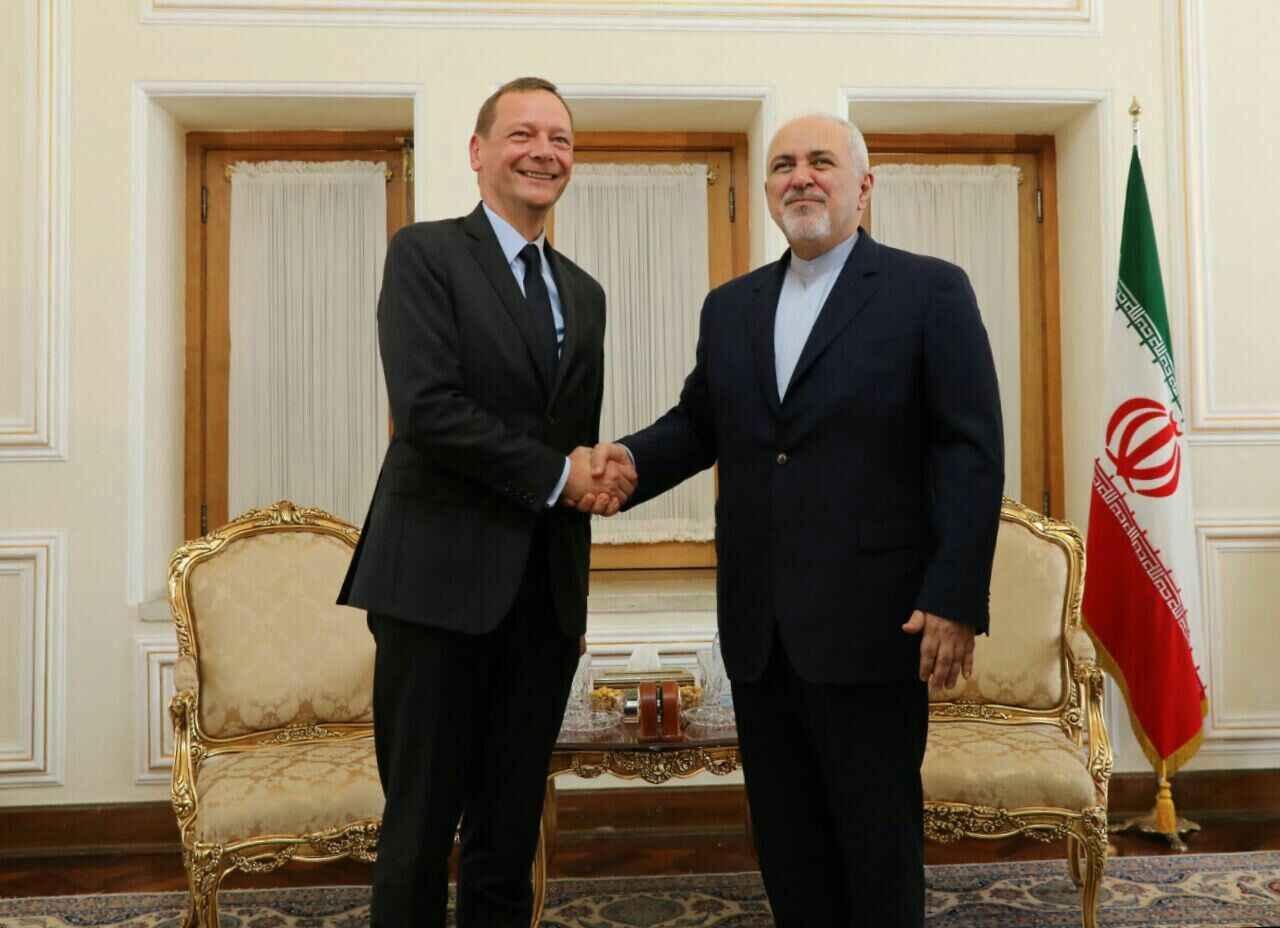 ظریف و مشاور مکرون درباره تحولات ایران و فرانسه رایزنی کردند