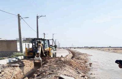 توسعه ۲۰۰ متر شبکه آب در شهر دهلران